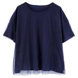 ティティベイト titivate チュールTシャツ (ネイビー)