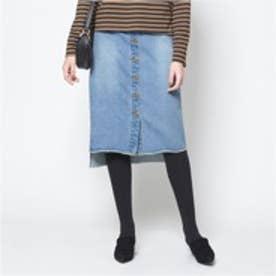 ティティベイト titivate デニムタイトスカート (ブルー)