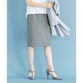 ユアーズ ur's 裾プリーツタイトスカート (杢グレー)