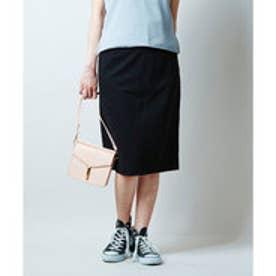 ユアーズ ur's ポンチタイトスカート (ブラック)