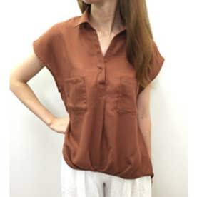 ミージェーン me Jane ビエラ半袖スキッパーシャツ (オレンジ)