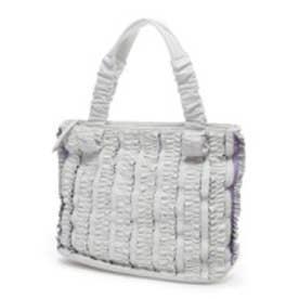アカクラ AKAKURA 合皮デザインハンドバッグ(ホワイト)
