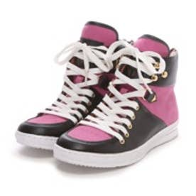 ジャンプ シューズ JUMP Shoes Villager 婦人靴(BLK/PNK)