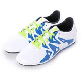 アディダス adidas ジュニアサッカートレーニングシューズ エックス X 15.3 TF J S74665 2781 (ランニングホワイト×コアブラック×セミソーラースライム)