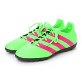 アディダス adidas サッカートレーニングシューズ エース Ace 16.4 TF AF5057 3194 (ソーラーグリーン×ショックピンク S16×コアブラック)