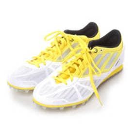 アディダス adidas 陸上スパイク アディアリバ ワイド adiarriba wide Q35328 1154 (ホワイト×イエロー)