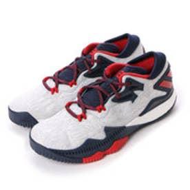 アディダス adidas ユニセックス バスケットボール シューズ B49755 24 (ランニングホワイト/スカーレット/カレッジネイビー)
