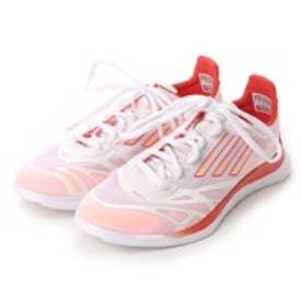 アディダス adidas アディゼロ スプリント ワイド adizero Sprint W V23238 1420 (ホワイト×レッド)
