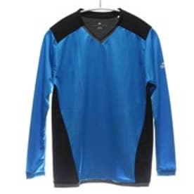 アディダス adidas ジュニアサッカー長袖シャツ KIDS ACE トレーニングジャージー AA6857 ブルー 8305 (ブルーBK)