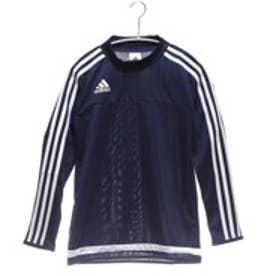 アディダス adidas ジュニアサッカー長袖シャツ KIDS ACE TIRO15トレーニングジャージー AH6576 ブルー 8305 (ダークブルー)