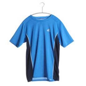 アディダス adidas ジュニア半袖Tシャツ AD IJB47 S6Y  (ブルー×ネイビー)