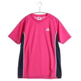 アディダス adidas ジュニア半袖Tシャツ AD IJB47 S6Y  (ピンク×ネイビー)