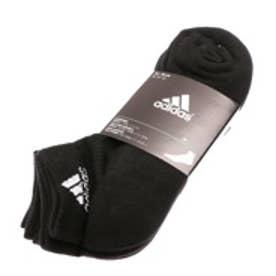 アディダス adidas ソックス 3S パフォーマンス 3Pショートソックス KAW64 ブラック (ブラック)