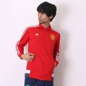 アディダス adidas サッカーライセンスウェア マンチェスターユナイテッドFC アンセム ジャケット AC1927 スカーレット×ホワイト (レッド)