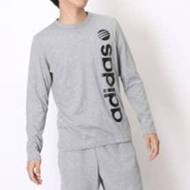 アディダス adidas Tシャツ BL ロングスリーブTシャツ M BCN92 グレー (グレーBK)