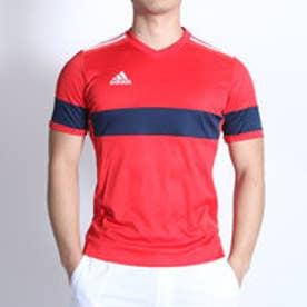 アディダス adidas サッカープラクティスシャツ KONN16 ゲームジャージー 半袖 AJ1366 レッド  (ビビッドレッド×カレッジネイビー)