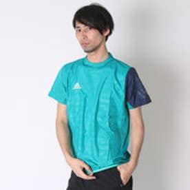 アディダス adidas サッカーハーフピステジャケット X Rengi ウィンドピステトップ 半袖 AJ1287 グリーン  (イーキューティーグリーン)