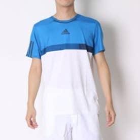 アディダス adidas テニスTシャツ バリケード Tシャツ AJ1520 ホワイト (ホワイト×ショックブルーS16)
