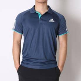 アディダス adidas テニスシャツ クラブ ポロ AJ1545 ネイビー (ミネラルブルーS16×ホワイト×ショックグリーン S16)