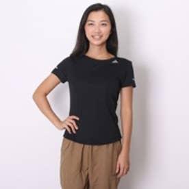 アディダス adidas レディースランニング半袖Tシャツ ITQ13 ブラック (ブラック)