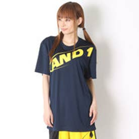 アンドワン AND1 バスケットボールTシャツ hook logo tee 6110908  (ネイビー×イエロー)