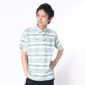 アシュワース ASHWORTH ゴルフシャツ S/S ストレッチ千鳥ボーダーシャツ BCK05 (グリーン)