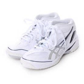 アシックス asics ジュニアバスケットボールシューズ GELPRIMESHOT SP 3 TBF135 185 (ホワイト×シルバー)