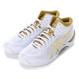 アシックス asics バスケットボールシューズ GELBURST20th-wide TBF22G 93 (ホワイト×ゴールド)