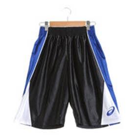 アシックス asics ジュニアバスケットボールパンツ Jr.プラパン XB7576 (ブラック×ブルー)