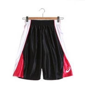 アシックス asics ジュニアバスケットボールパンツ Jr.プラパン XB7576 (ブラック×ホワイト)