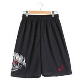 アシックス asics ジュニアバスケットボールパンツ Jr.プリントプラパン XB765N (ブラック)