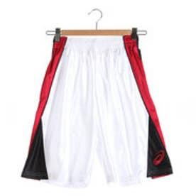 アシックス asics ジュニアバスケットボールパンツ Jr.プラパン XB7576 (ホワイト×ストロングレッド)