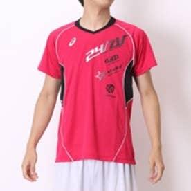 アシックス asics バレーボールプラクティスシャツ XW6616プリ HS ピンク (ピンクBK)