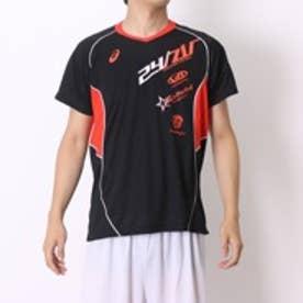 アシックス asics バレーボールプラクティスシャツ XW6616プリ HS ブラック (ブラックR)