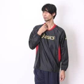 アシックス asics バレーボールウォームアップジャケット XWW614 ブラック (ブラックR)