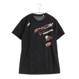 アシックス asics バレーボールプラクティスシャツ プリントTシャツHS XW685N  (ブラツクA)