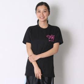 アシックス asics バレーボールTシャツ プリントTシャツHS XW686N  (ブラツクD)