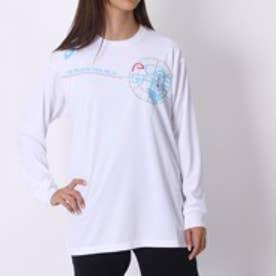 アシックス asics バスケットボールTシャツ W'SプリントTシャツLS AS XB978N L  LS  (ホワイト)