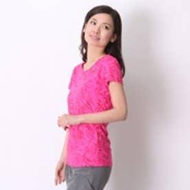 アシックス asics レディースランニング半袖Tシャツ AS 127846 15F ピンク (ピンク)