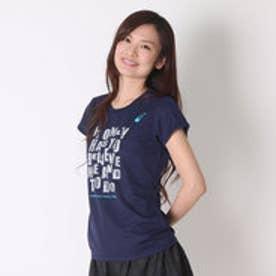 アシックス asics レディースランニング半袖Tシャツ W'SプリントTシヤツHS XT590N (ネイビーC)
