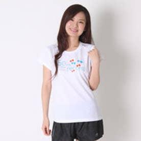 アシックス asics レディースランニング半袖Tシャツ W'SプリントTシヤツHS XT590N (ホワイトA)