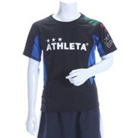 アスレタ ATHLET ジュニアサッカープラクティスシャツ ジュニアゲームシャツ AP-0141  (ブラックXブルー)