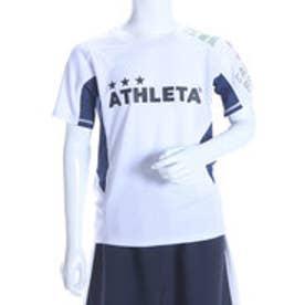 アスレタ ATHLET ジュニアサッカープラクティスシャツ ジュニアゲームシャツ AP-0141  (ホワイトXネイビー)