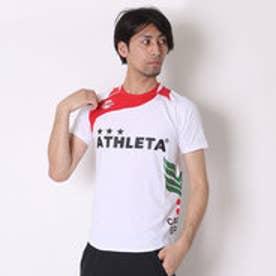 アスレタ ATHLET サッカープラクティスシャツ マーク対応 AP-0125 ホワイト×レッド (ホワイトR)