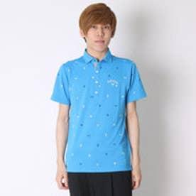キャロウェイ Callaway ゴルフシャツ ブラジルモノグラムプリントサッカーショートワイドシャツ 6157523 (ライトブルー)