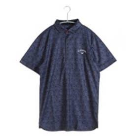 キャロウェイ Callaway ゴルフシャツ トマトプリントワッフルショートワイドカラーシャツ 6157529 (ネイビー)