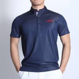 キャロウェイ Callaway ゴルフシャツ ドットパターンBDカラーシャツ 6157500 (ネイビー)