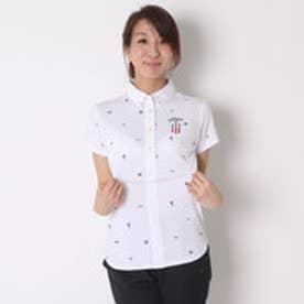 キャロウェイ Callaway ゴルフシャツ トビガラプリントワッフルBDカラーシャツ 6157814 (ホワイト)