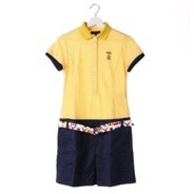 キャロウェイ Callaway ゴルフシャツ ワッフルボーダーポロワンピース 6113804 (イエロー)