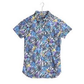 キャロウェイ Callaway ゴルフシャツ ネッタイフラワープリントトモエリシャツ 6157806 (ネイビー)
